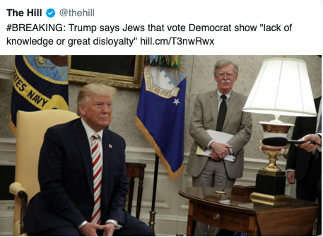 trump on jewish loyalty