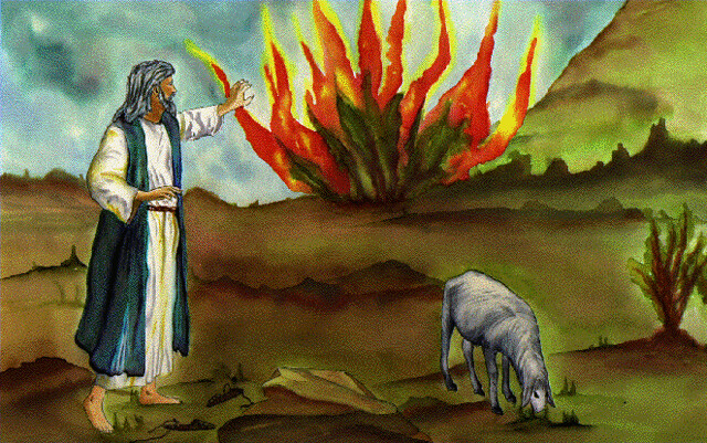 moses burning bush